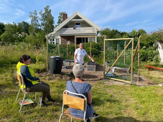 Åpning av urte- og grønnsakshagen