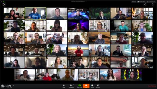 Et skjermbilde av et digitalt møte