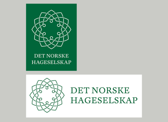 Hageselskapets to ulike varianter av logoen
